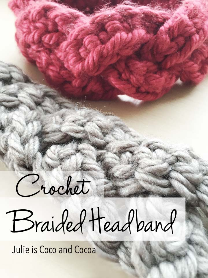 crochet braided headband ear warmer