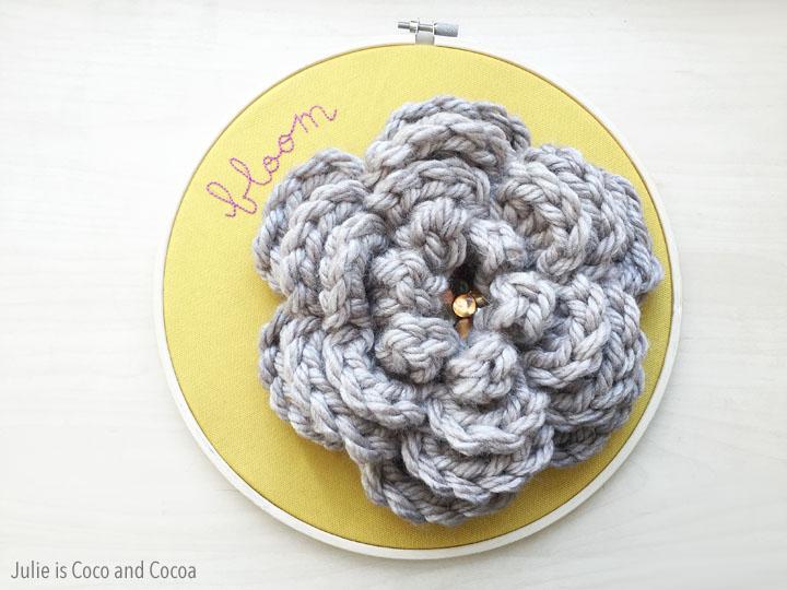 'Bloom' Embroidery Crochet Flower Hoop