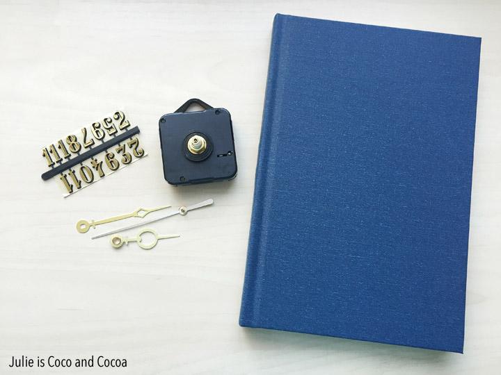 Hardcover Book Clock DIY