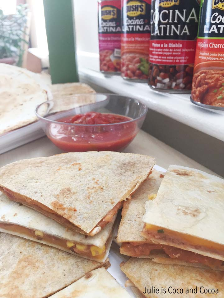 Refried Beans Quesadillas, Chicken and Vegetarian recipes