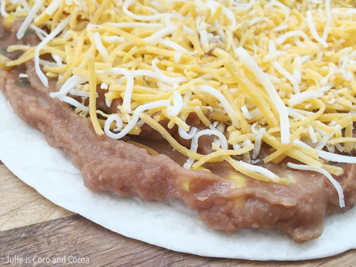 Vegetarian Refried Beans Quesadilla Recipe