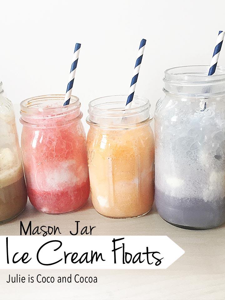 Mason Jar Ice Cream Floats