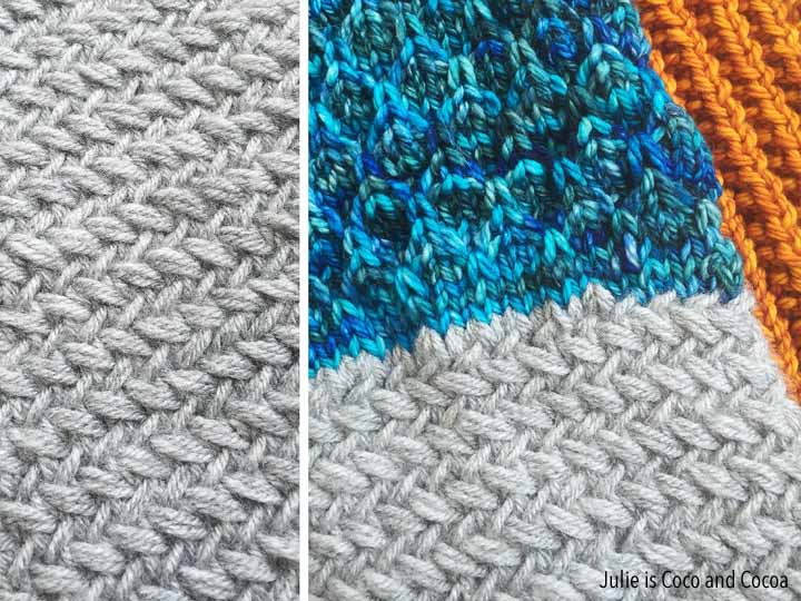 Trilogy Cowl Pattern Herringbone Stitch