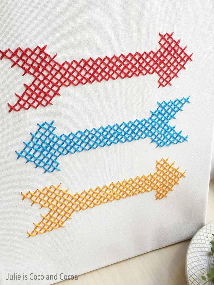 Cross Stitch Arrows Canvas