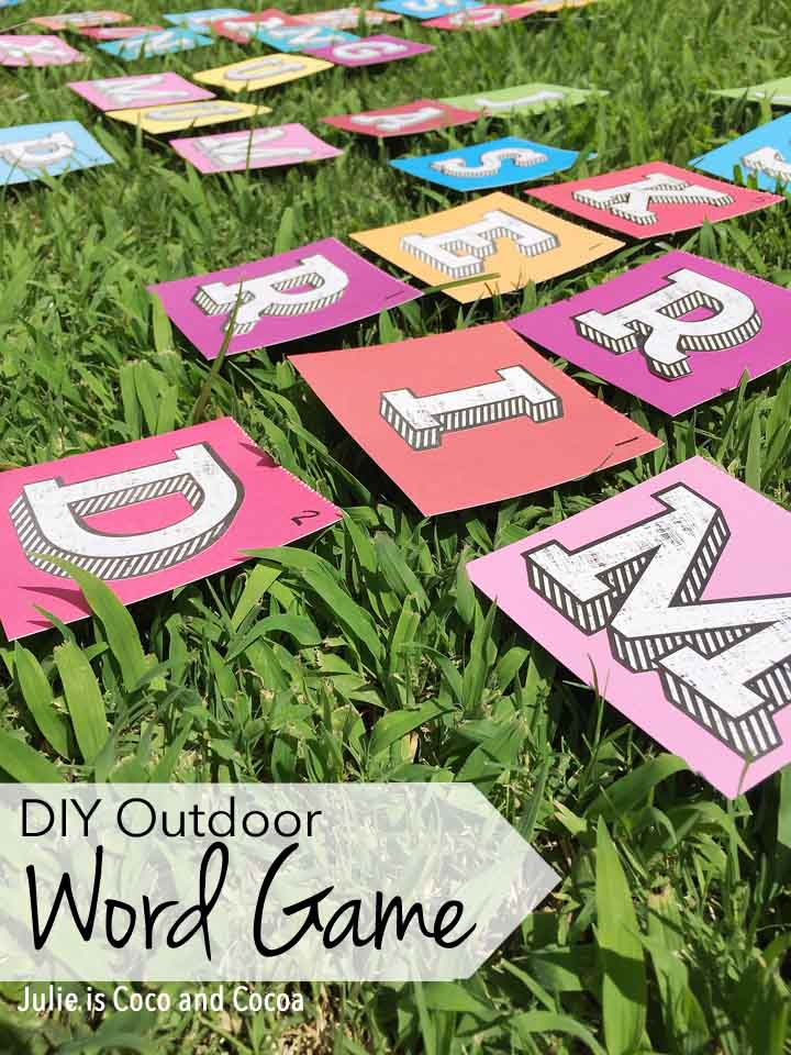 DIY Outdoor Scrabble Word Game