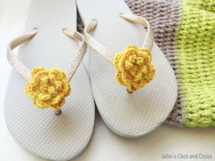 Crochet Flowers Shoe Clips