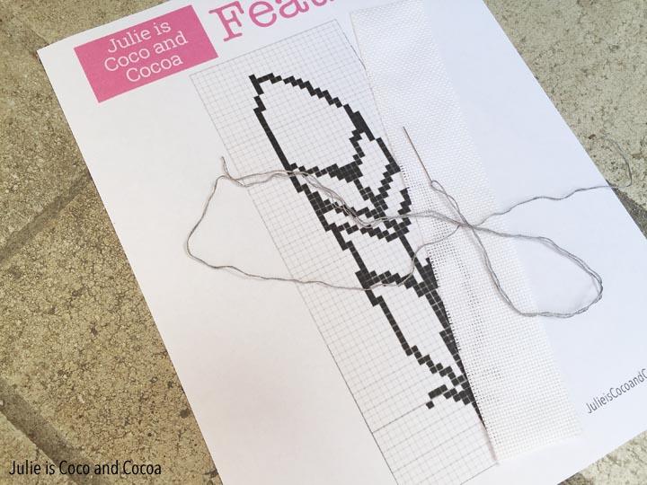 Feather Cross Stitch Pattern