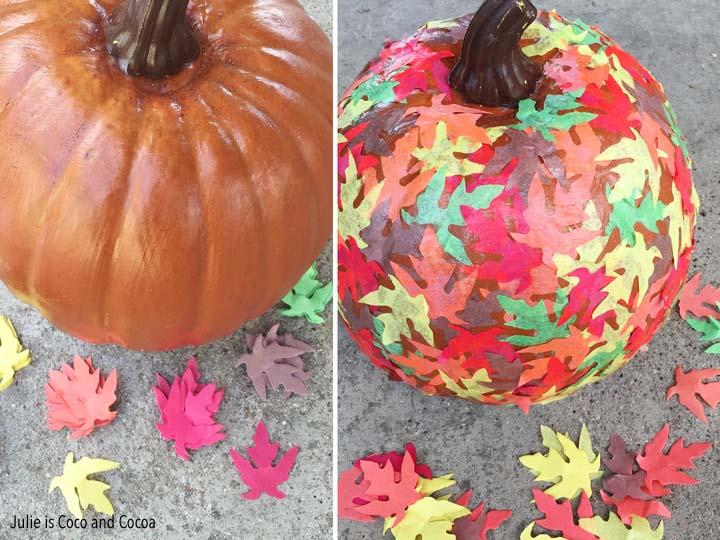 No Carve Leaf Pumpkin