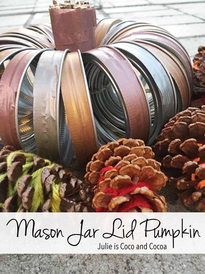 Mason Jar Lid Pumpkin