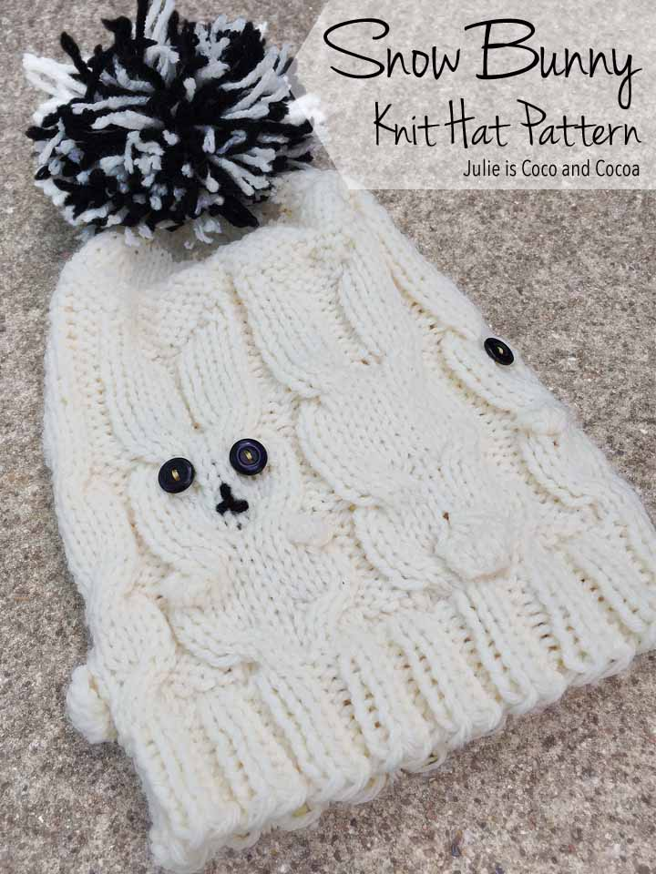 Bunny Hat Knit Pattern - Julie Measures