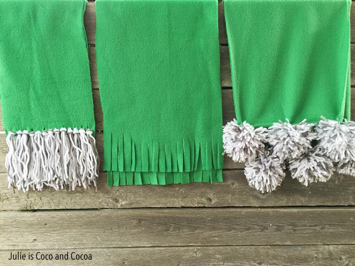 No sew fleece scarf pattern