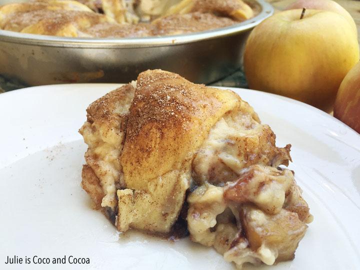 Cream Cheese Caramel Apple Ring Bake