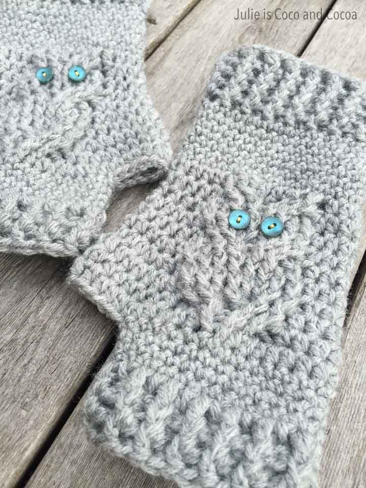 Owl Gloves Crochet Pattern