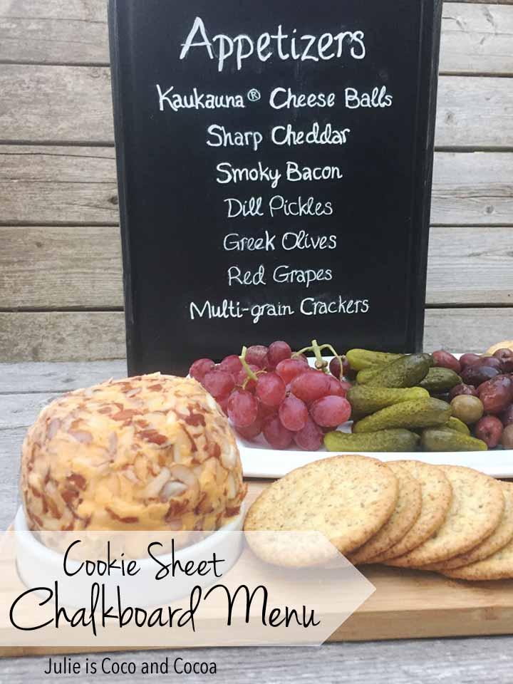 Cookie Sheet Chalkboard Menu