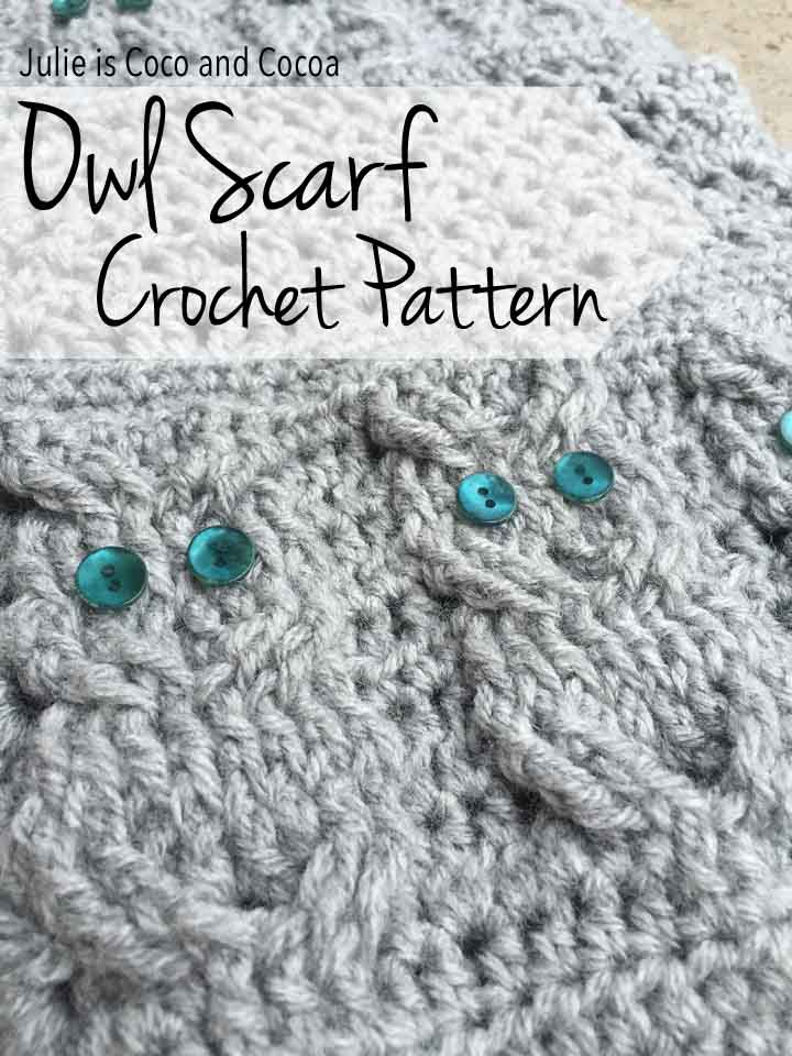 Free Crochet Pattern Owl Family : Crochet Owl Scarf - Julie Measures