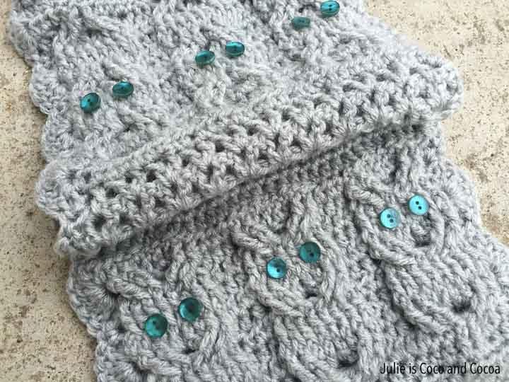 Crochet Owl Scarf Julie Measures