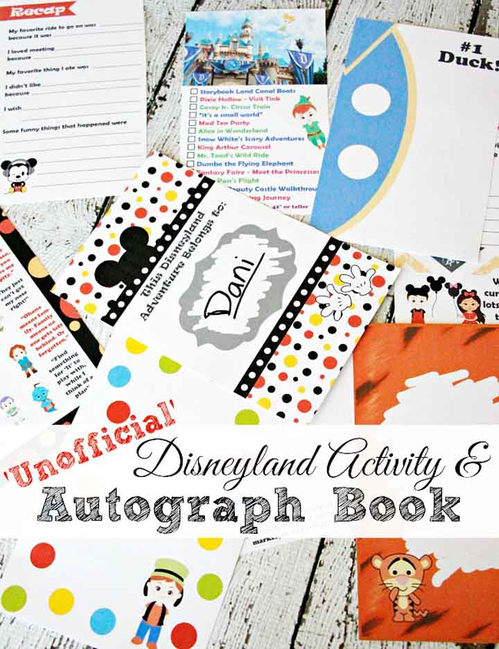 'Unofficial' Disneyland Activity and Autograph Book (+ Giveaway!)
