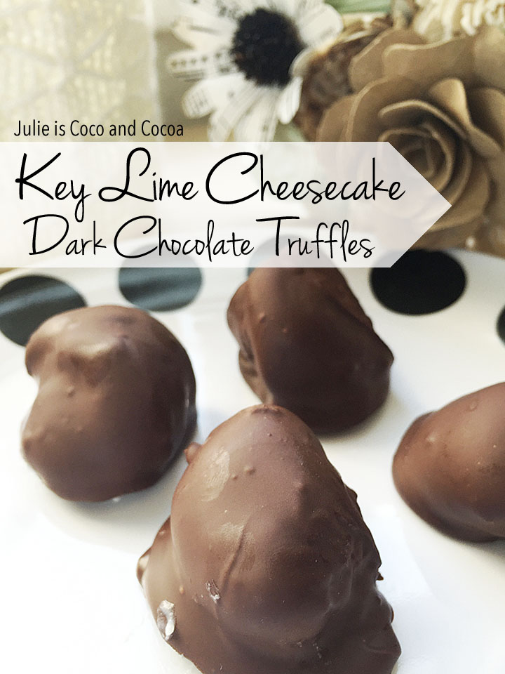Key Lime Cheesecake Dark Chocolate Truffles