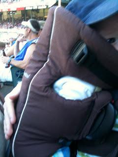 My littlest baseball fan