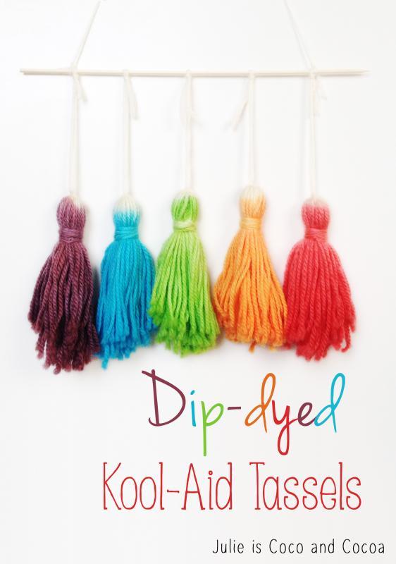 Dip-Dyed Kool-Aid Tassels