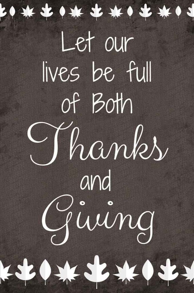 Thanks and Giving – Free Thanksgiving Graphic