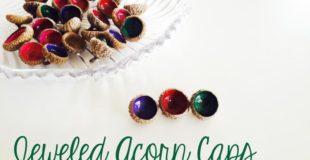 Jeweled Acorn Caps