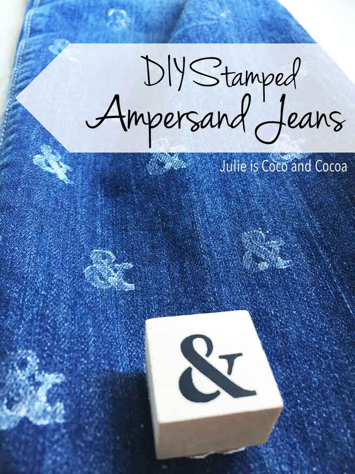 DIY Stamped Ampersand Jeans