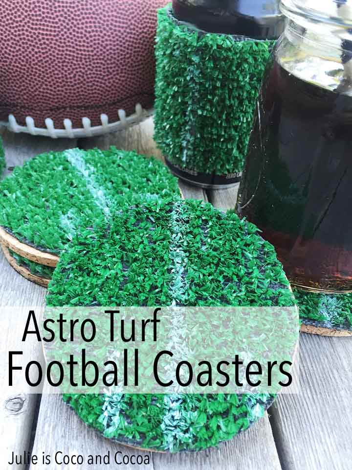 Astro Turf Football Coasters