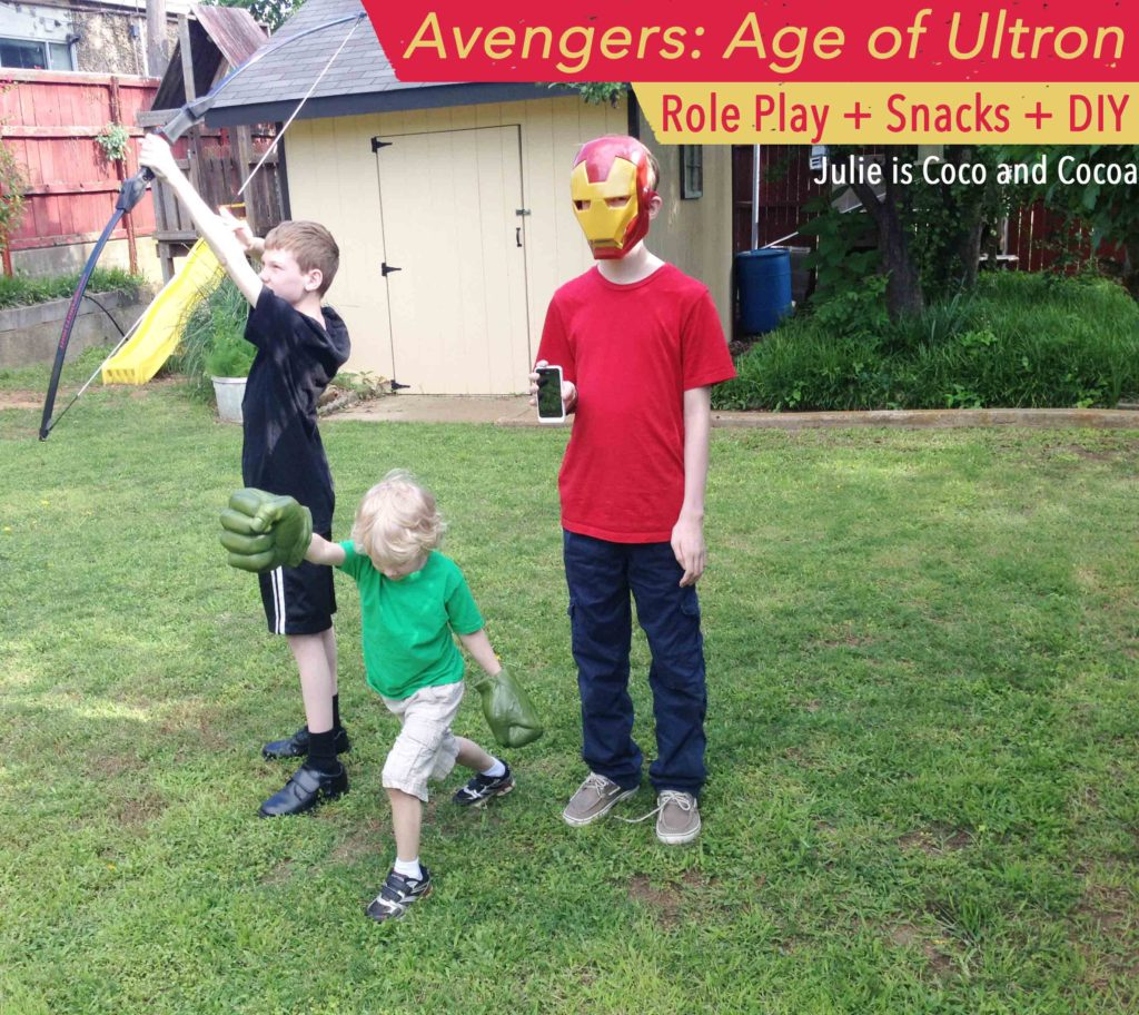 The Avengers: Age of Ultron Role Play, Snacks, and a DIY