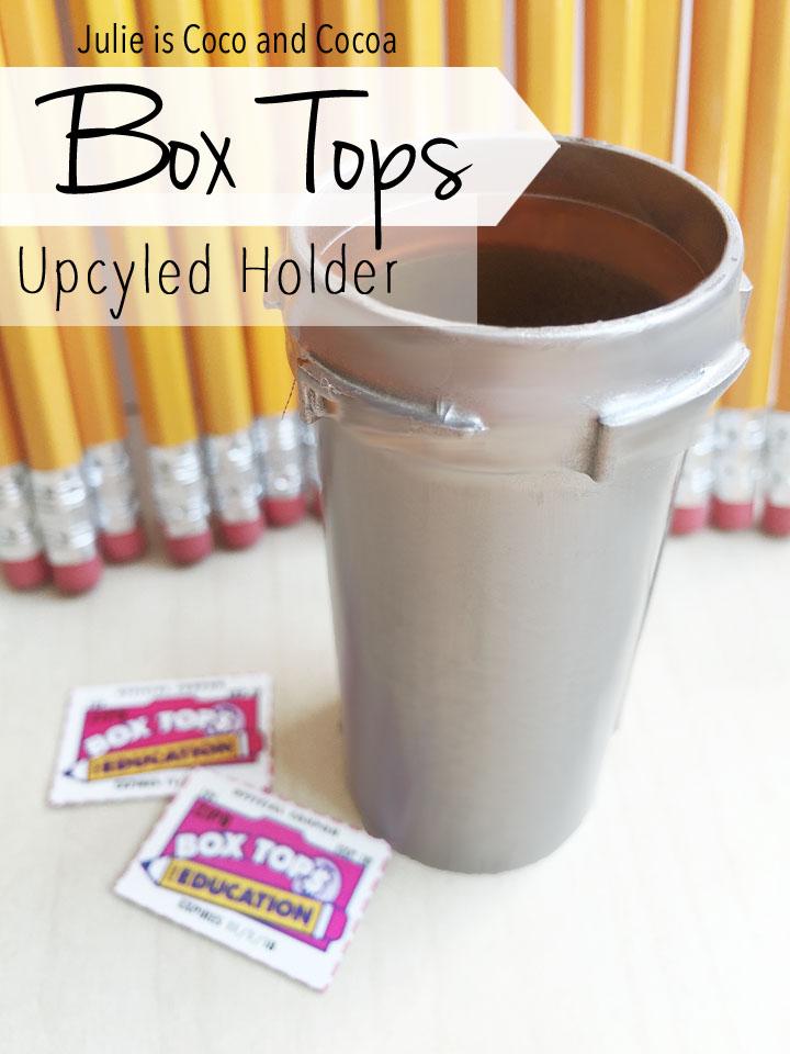 DIY Box Tops Upcycled Holder