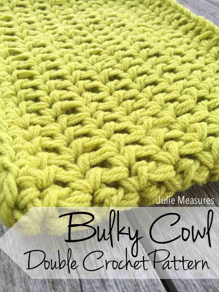 Bulky Cowl Double Crochet Pattern