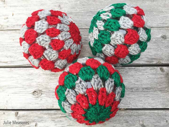 Granny Square Crochet Ornaments