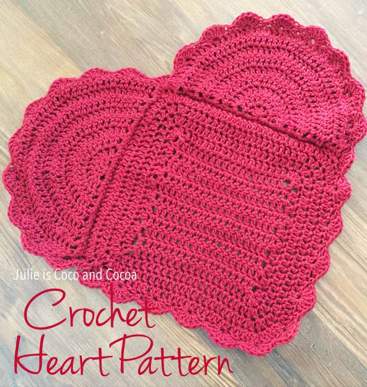 You Are Loved Crochet Heart Pattern Julie Measures