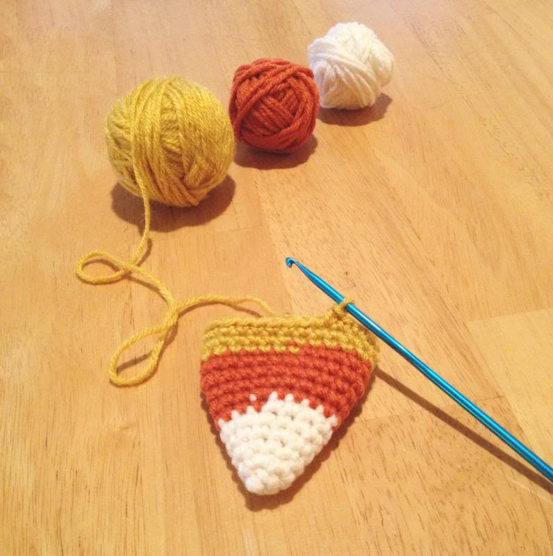 crochet candy corn (in progress)
