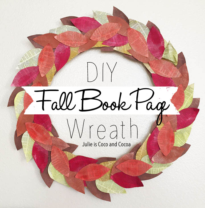 DIY Fall Book Page Wreath