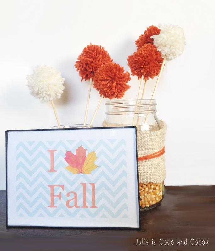 Fall It Up with Mason Jars and Popcorn