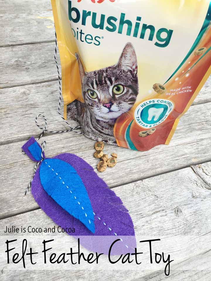 Felt Feather Cat Toy