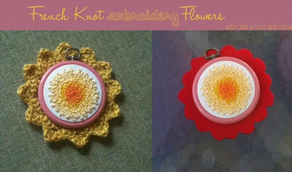French Knot Embroidery Flower