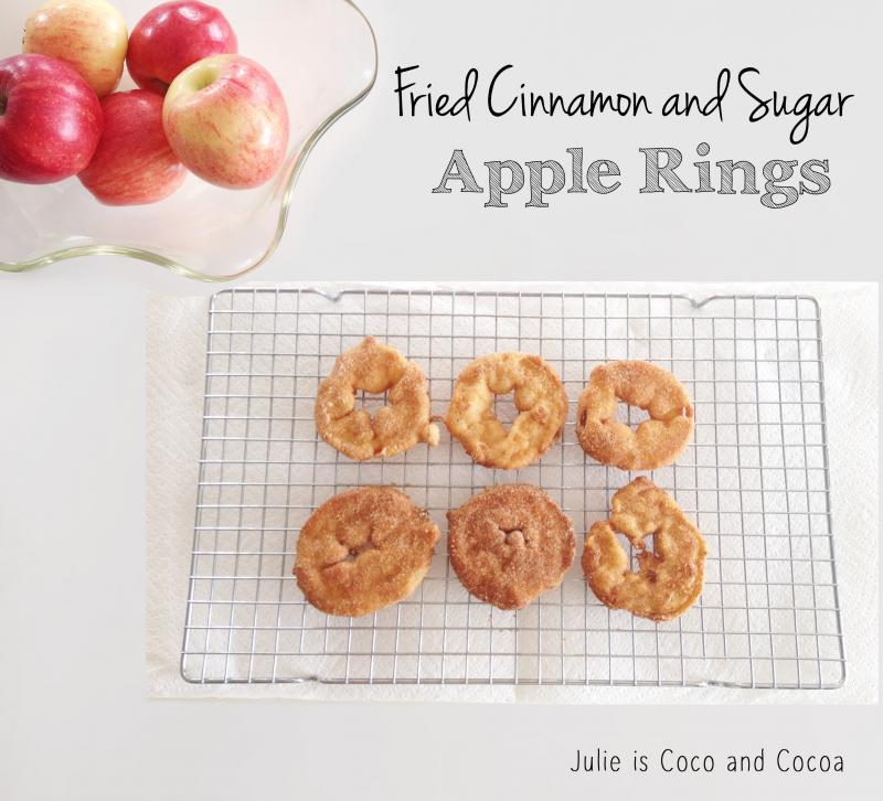 Fried Cinnamon and Sugar Apple Rings