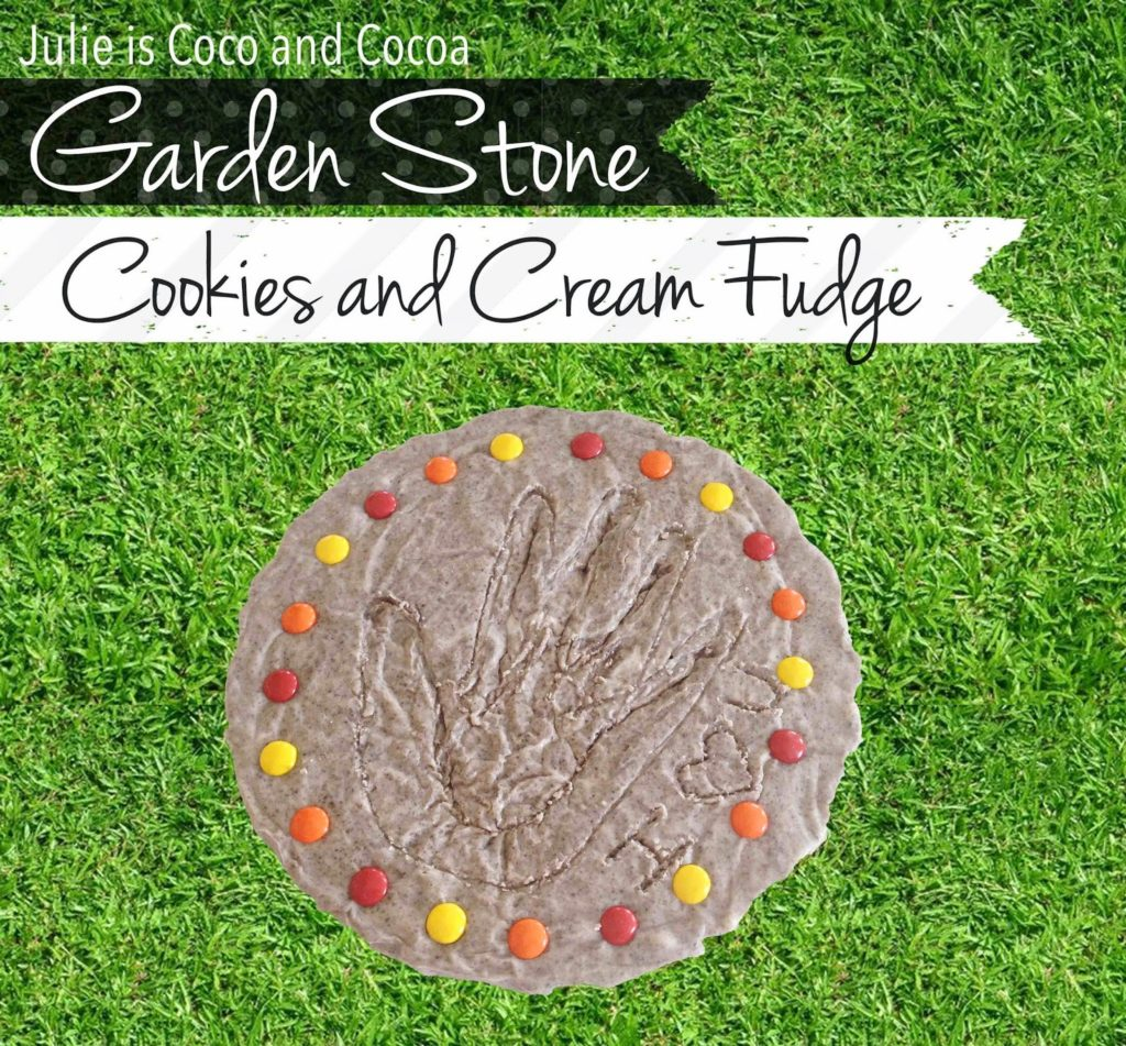 Cookies and Cream Fudge Edible Garden Stone