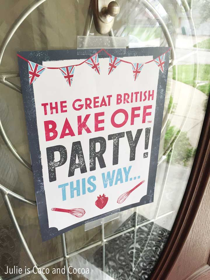 Great British Bake Off Birthday Party