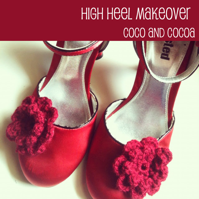 red high heels makeover
