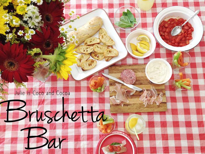 Bruschetta Bar Indoor Picnic