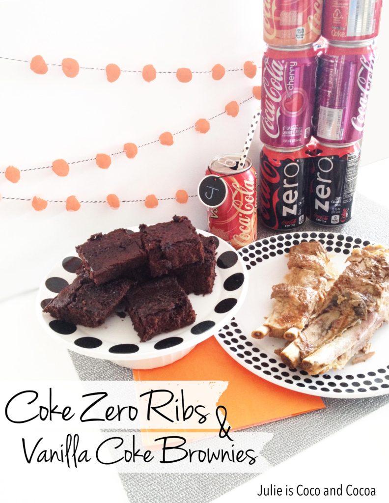 Coke Zero Slow-Cooker Ribs and Vanilla Coke Brownies