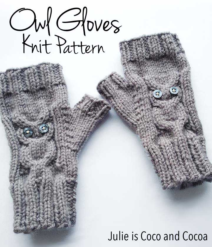 Owl Gloves Knit Pattern Julie Measures