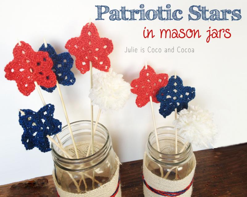 Patriotic Crochet Stars DIY