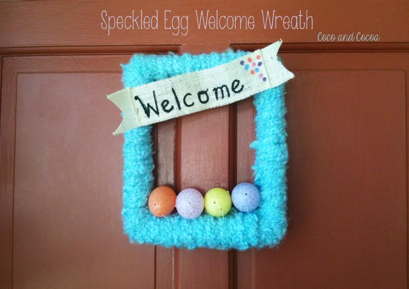 Speckled Egg Welcome Wreath