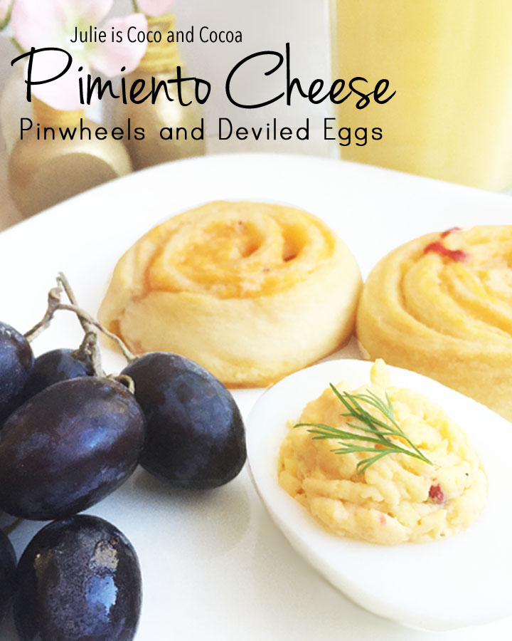 Pimiento Cheese Pinwheels and Deviled Eggs