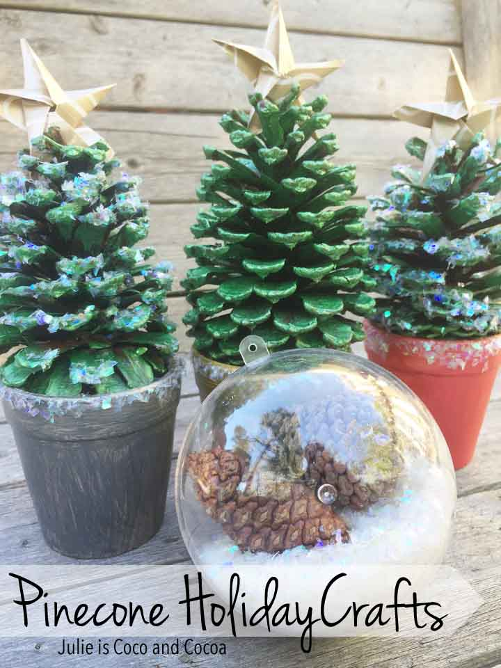 Holiday Pinecone Crafts