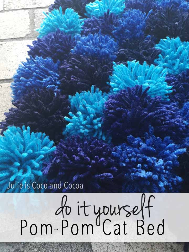DIY Pom Pom Cat Bed